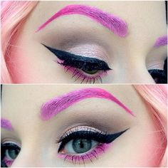 Pink brows
