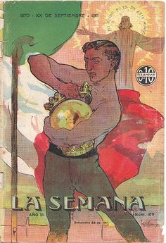 """Dibujo de portada de Orestes Acquarone correspondiente al nº 109 de la revista """"La Semana"""" fechada 23 de setiembre de 1911."""