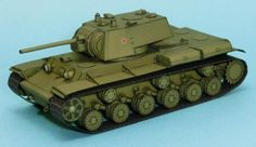 PAPERMAU: WW2`s Soviet Tank KV-1 Paper Model In 1/72 Scale - by Lazy Life