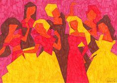 Abstracción cromática en una gama de colores cálidos usando rotuladores. Logos, Painting, Art, Comfort Colors, Baccalaureate, Sharpies, Craft Art, Painting Art, Kunst