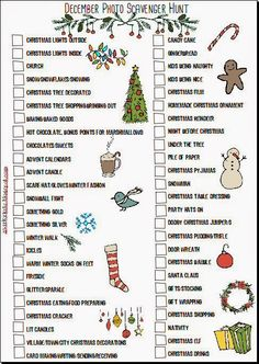 Christmas Album Part 1 - Printables, first pages and a plan Christmas To Do List, Christmas Albums, Christmas Photos, Family Christmas, Winter Christmas, Christmas Ideas, Xmas, Christmas Scavenger Hunt, Christmas Party Games