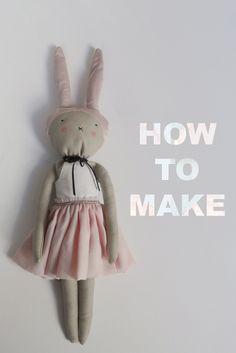 DIY Bunny rabbit with PDF Pattern