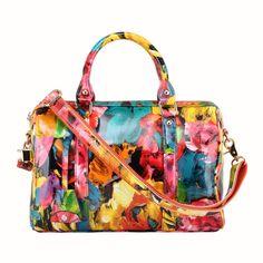 56cd77f4b2aac Peinture à l huile de fleur 2012 nouvelle mode sacs en cuir véritable de  marque