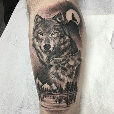 Cool wolf tattoo design ideas suitable for you who loves spirit animal 14