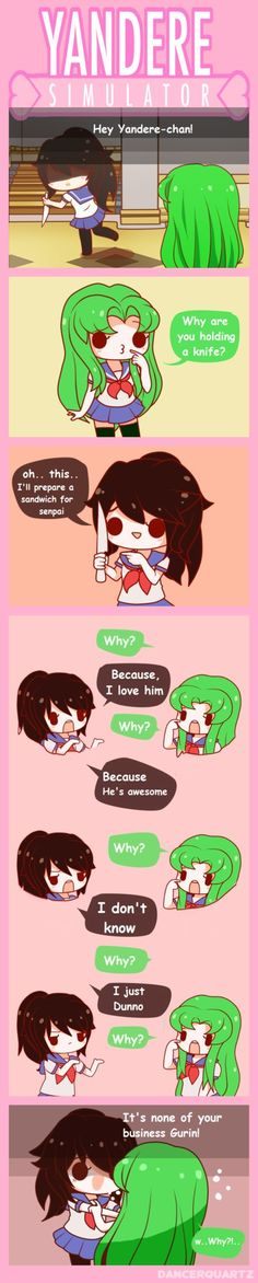 Yandere Comic - Questions time by DancerQuartz