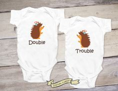 Baby Twin Onesies®, Matching Twin Outfits, Funny Twin Shirts, Twin Gifts, Newborn Twins Outfit