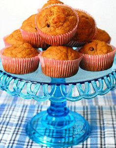 Grandma's Peanut Butter Banana Muffins - Basic muffin ingredients are combined with creamy peanut butter and mashed, ripe bananas for spectacularly moist and flavorful muffins.