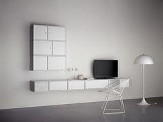 Montana SOUND – HIFI storage in white. Great sound. Visual silence. #montana #furniture #hifi #sound #storage #danish #design #silence #white #loudspeaker #nordic #minimalism #clean #space