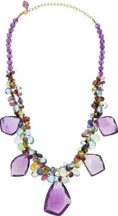 Multi-Stone, Gold Necklace, Benji.