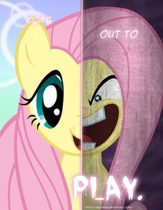 MLP - Two Sides of Fluttershy by *TehJadeh on deviantART
