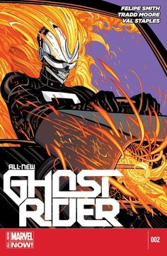 All-New Ghost Rider (2014-) #2 ENGINES OF VENGEANCE PART 2 ROBBIE REYES has been given a new awesome power but can the teen handle it or will it drive him to a path of destruction? Who owns the HAUNTED RACE CAR and what will they do to get it back? What are the PINK PILLS and who is behind their creation?