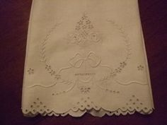 Vintage 15 x 23 Huck Linen Hand Embroidered Towel from topdraw on Ruby Lane