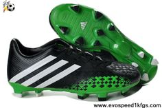 Latest Listing Discount 2013 adidas Predator FG Black Green Football Shoes On Sale