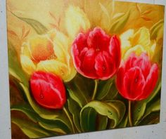 Quadro Tela Flores Tulipas Pintura Oleo feitas especialmente para você. Mais de 138 Quadro Tela Flores Tulipas Pintura Oleo: