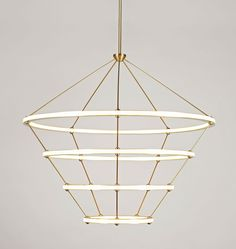 Fantastic large modern and expensive chandelier. Halo - 4 Rings (Brushed brass) $19000