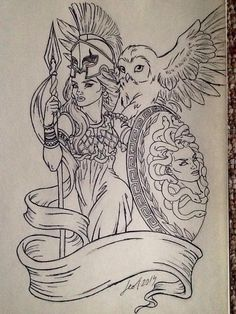 Athena>> I don't like the pouty model face but other than that I like it Medusa Tattoo, Athena Tattoo, Greek Goddess Tattoo, Greek Mythology Tattoos, Body Art Tattoos, New Tattoos, Sleeve Tattoos, Future Tattoos, Gott Tattoos