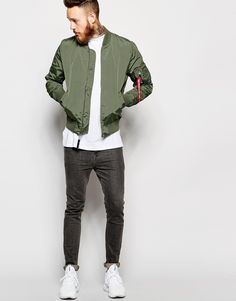 Image 4 of Alpha Industries MA-1 Bomber Jacket Slim Fit