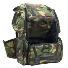 Golf Bags - Latitude 64 DG Luxury E3 Army Camo/ Backpack Disc Golf Bag Get the very best in Golf Push Carts and More @ http://bestgolfpushcarts.net/product-category/golf-push-carts/caddy-tek/