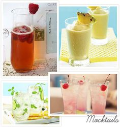 Great Signature MOCK-tail ideas for your guests who prefer not to drink alcohol