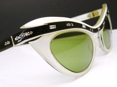 Vintage 50s Cat Eye Sunglasses Black and by Vintage50sEyewear, $129.00