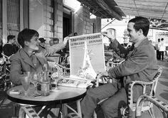 Jean-Pierre Léaud and François Truffaut photographed by Claude Azoulay at the 1959 Cannes Film Festival Renoir, Jean Pierre Leaud, Photos Rares, Francois Truffaut, The Searchers, Beautiful Film, Paris Match, Art En Ligne, Catherine Deneuve