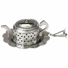 Teapot-Shaped Infuser with Caddy. wedding shower favors $5.50