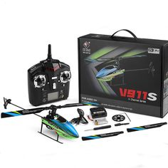 wltoys v911s 2.4g 4ch 6-aixs gyro flybarless rc helicopter rtf Sale - Banggood.com Rc Helicopter, Rc Drone, Drones, Hobby Toys, Brand Names, Hobbies, Remote Control Toys, Model, Helicopters