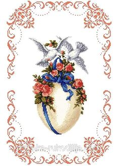 Cross Stitch Flowers, Cross Stitch Patterns, Hobbies And Crafts, Diy And Crafts, Easter Cross, Crochet Cross, Cross Stitching, Diy Clothes, Embroidery Designs