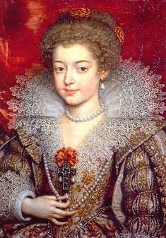 POURBUS Frans Pourbus the Younger - Flemish (Antwerp 1569–1622 Paris) ~ Christine of France (1606 - 1663) younger sister of Louis XIII and future Duchess of Savoy circa 1615