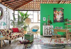 Salon tropical bohème