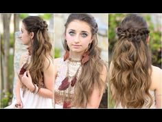 Braided Half Up | Prom Hairstyles/Coachella Hairstyle #cutegirlshairstyles #promhairstyle #coachellahairstyle #hairstyles #hairstyle #braids #CGHbraidedhalfup