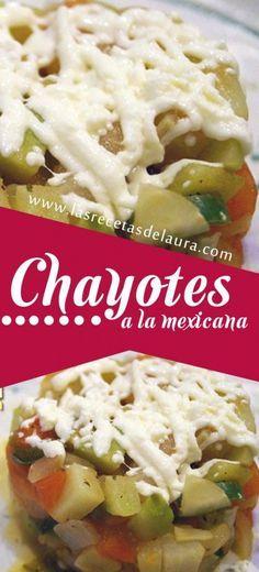 CHAYOTES A LA MEXICANA ¡BAJO EN CALORÍAS! Receta Saludable Facil y rapida para toda la familia