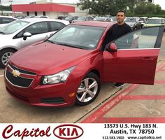 https://flic.kr/p/GrNdgC | Happy Anniversary to Israel on your #Chevrolet #Cruze from Ashley Adams at Capitol Kia! | deliverymaxx.com/DealerReviews.aspx?DealerCode=RXQC