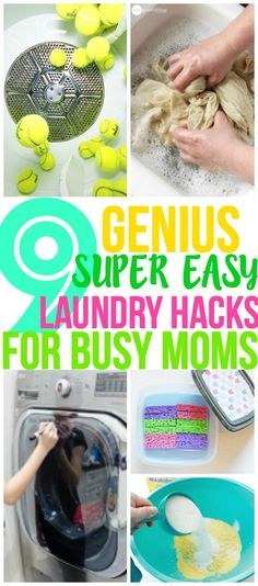 These laundry hacks and laundry tips and tricks are perfect laundry hacks for busy moms! They will save you time and help make your life easier. Pinning for later!