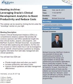 Leveraging Oracle's Clinical Development Analytics to Boost Productivity and Reduce Costs