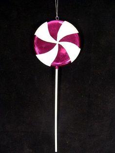 "Large Candy Fantasy Raspberry Swirl Lollipop Christmas Ornament Decoration 22"""