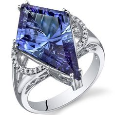 Kite Shape 9.00 Carats Alexandrite Ring in Sterling Silver Rhodium Finish Size 9, Available Sizes 5 to 9 Peora,http://www.amazon.com/dp/B007HC991A/ref=cm_sw_r_pi_dp_nO5LrbDFABFE48BF