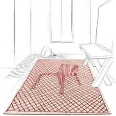 LA CHAISE ROUGE - Designer Rugs from Toulemonde Bochart ✓ all information ✓ high-resolution images ✓ CADs ✓ catalogues ✓ contact information ✓. Designer, Furniture Design, Outdoor Blanket, Carpet, Kids Rugs, Home Decor, Passion, Red, Bamboo