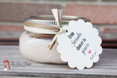 "Cute scalloped edge ""from my shower to yours"" favor tags for loofahs, lotion, sugar scrub, etc."