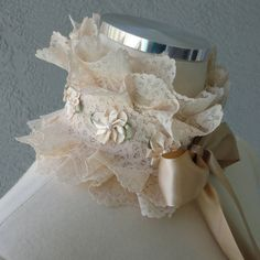 Victorian Inspired One Of A Kind Cream Lace by Chuletindesigns, $25.00