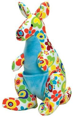 Color Zoo Kacy the Kangaroo Stuffed Toy, Color Splash by Color Zoo. $19.95. From the Manufacturer                A wonderful world of brightly colored animal friends can be found at the Color Zoo. Each animal will delight and entertain with its unique patterns and designs. All animals at the Color Zoo are made from 100% cotton fabric with beautiful embroidered features. Soft, huggable and full of whimsy. Color Zoo animals will spark your imagination.