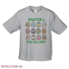 Easter Shirt - Easter is Egg-cellent!  Personalized Easter Shirt for Girls or Boys - Infant thru Adult Sizes - Hand Drawn Easter Egg Tshirt by REVOLUTION46R46 on Etsy https://www.etsy.com/au/listing/270225266/easter-shirt-easter-is-egg-cellent