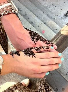 These henna tattoos!