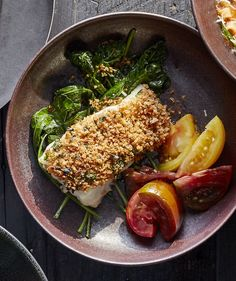 This heart-healthy dinner option is anything but boring. Each boneless, skinless cod fillet gets baked in a crispy coating of panko, chopped garlic and fresh parsley, so it tastes like a more delicious, less oily version of fried fish.