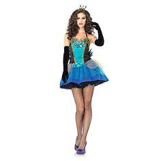 Pauw Prinses Green Polyester Dames Carnaval Party Kostuum – EUR € 37.94