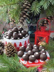 Aleda konyhája: Mogyorós gesztenyegolyók Pavlova, Tart, Christmas Ornaments, Holiday Decor, Desserts, Cakes, Candy, Tailgate Desserts, Deserts