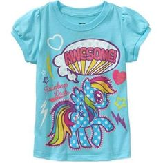 """Girls My Little Pony Rainbow Dash Shirt BNWT Size 4T """"Awesome!!"""" Great Gift!!  #Hasbro #Everyday"""