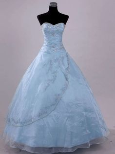 Stock Light Blue Wedding Dress Pageant Ball Prom Size 6-16 | eBay