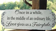Once in a whileFairytale Wedding signs Decoration by familyattic, $41.95