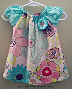 Any little girl will look precious in the Easy Peasy Infant Dress Pattern. This dress looks adorable created with a spring or pastel pattern. It could be created in one shade of pastels, as well.